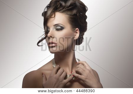 Sensal Elegant Woman With Cute Hairstyle