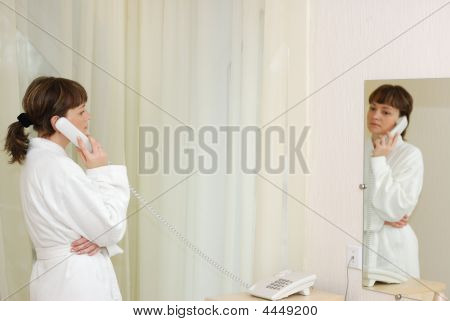 The Girl Talking By Phone