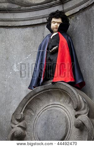 Manneken Pis Dressed As A Vampire, Brussels