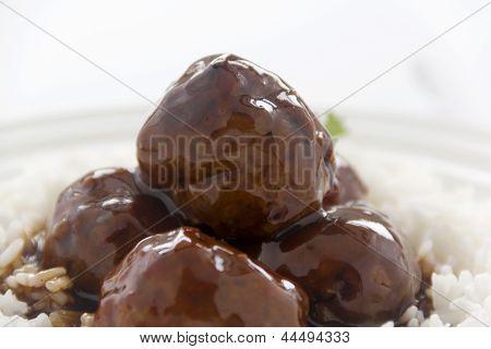 Meat Balls In Hoisin Sauce
