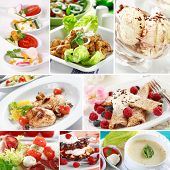 stock photo of gourmet food  - Menu collage  - JPG