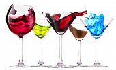 stock photo of curacao  - alcoholic cocktails set  - JPG