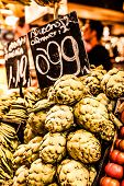 pic of sabbatical  - Fresh green Cherimoyas in Central Market Barcelona Spain - JPG