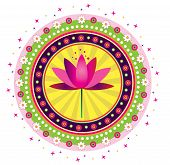 pic of east-indian  - Colorful lotus flower illustration style icon design - JPG