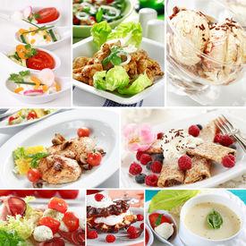 stock photo of gourmet food  - Menu collage  - JPG