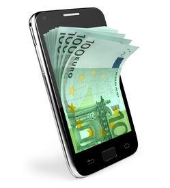 foto of tariff  - Smart phone with money concept - JPG