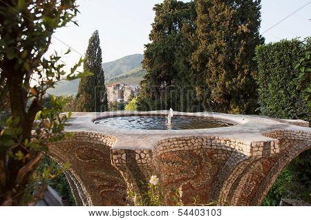 Rome, Tivoli, Villa D'este, Fountain With View