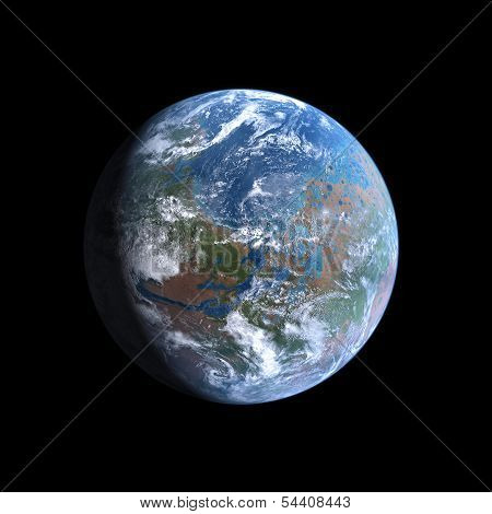 Planet Mars Terraformed