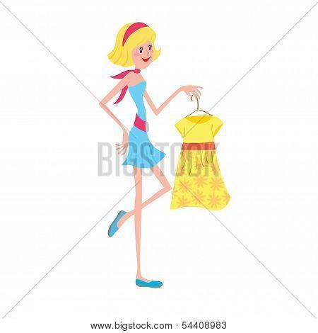 Girl With Fashion Dress