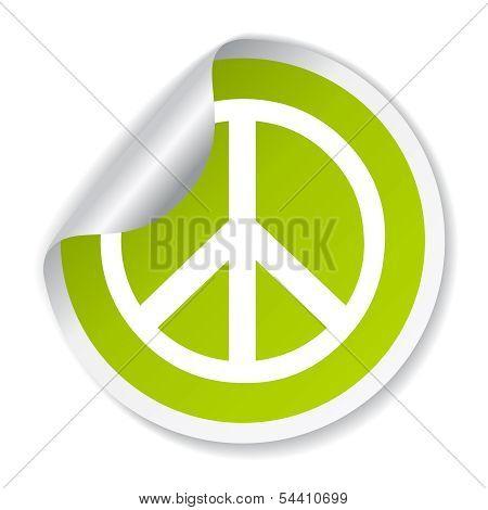 Peace vector symbol