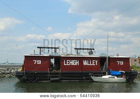 The Lehigh Valley Railroad Barge Number 79 in Brooklyn
