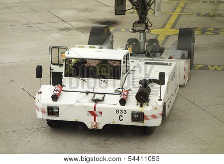 Air France pushback tractor at Orly Airport in Paris