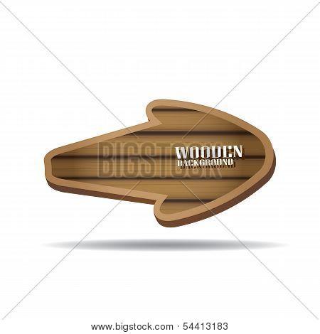 vector wooden background. vector wooden arrow