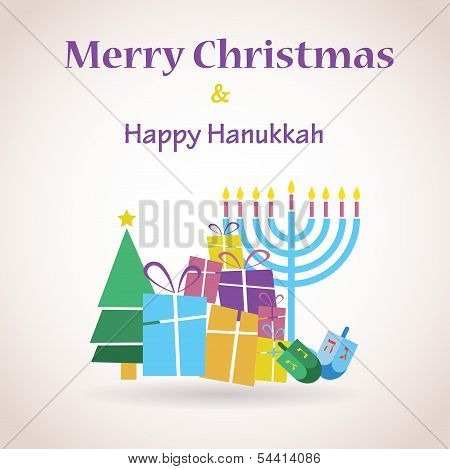 happy Hanukkah and merry christmas