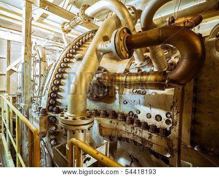 large industrial turbine closeup photo