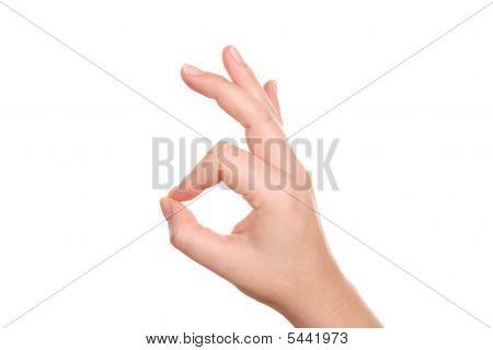 Ergebnis-Ordnung für weibliche Handzeichen