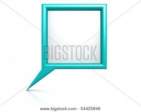 Cyan dialog bubble