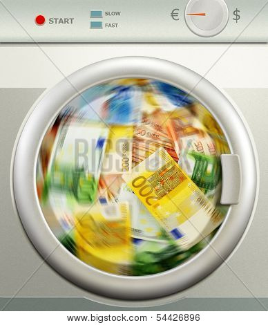 Money Laundering. Euro European Currency