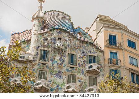 Facade Of Casa Batllo, Barcelona