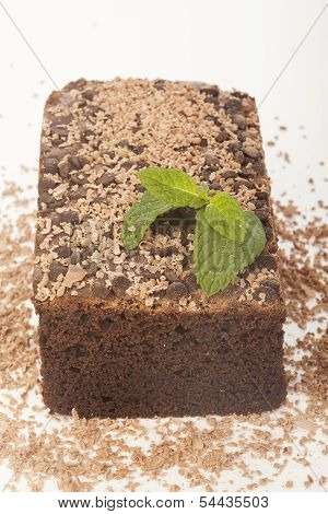 Chocolate Cake Isolated On White