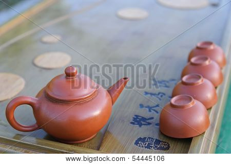 Equipment For Chines Tea Ceremony.