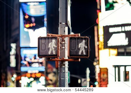 Keep walking New York traffic sign