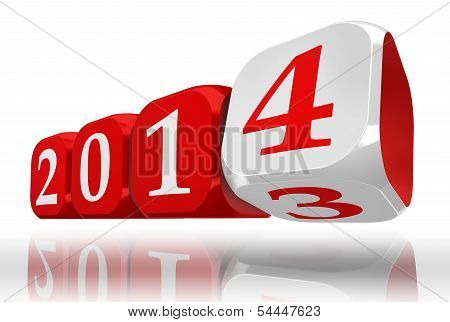 New Year 2014 Dice Block