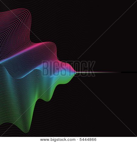Colorful wave pattern