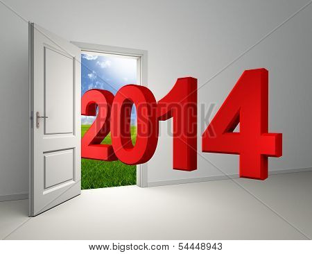 New Year 2014 Enter Open Door