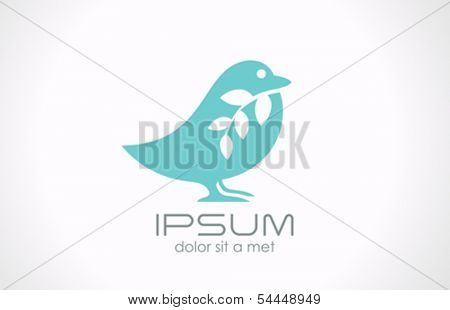 Bird abstract vector logo design template. Creative medicine healthcare concept. Sparrow icon