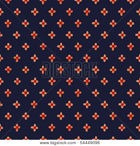 Red watercolor mark. Seamless pattern
