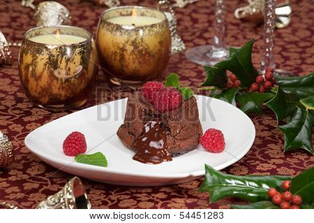 Raspberry Lava Cake