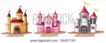 Illustration of the three different castles on a white background