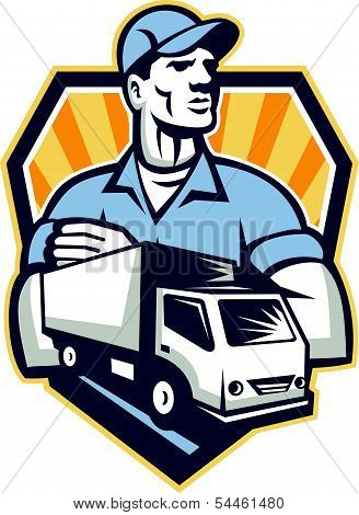 Removal Man Delivery Truck Crest Retro