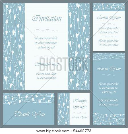Wedding Or Invitation Card Set