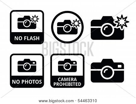 No photos, no camera, no flash icons