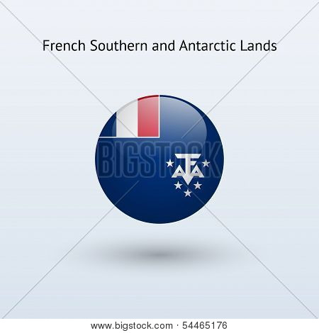 French Southern and Antarctic Lands round flag.