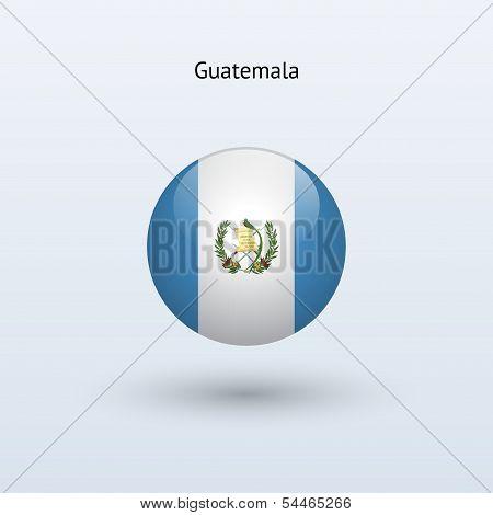 Guatemala round flag. Vector illustration.