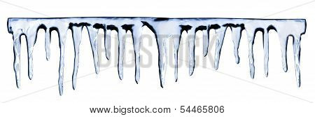 icicles on white