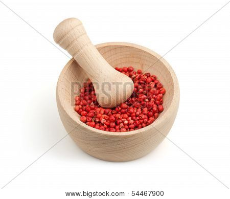 red pepper in a mortar