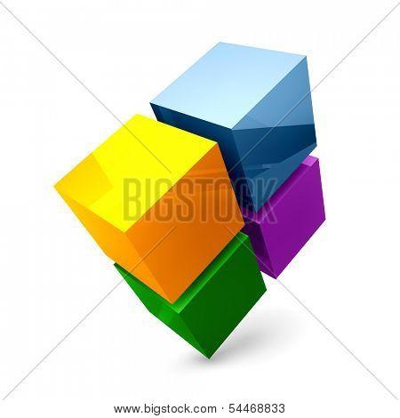 Vector 3D illustration.