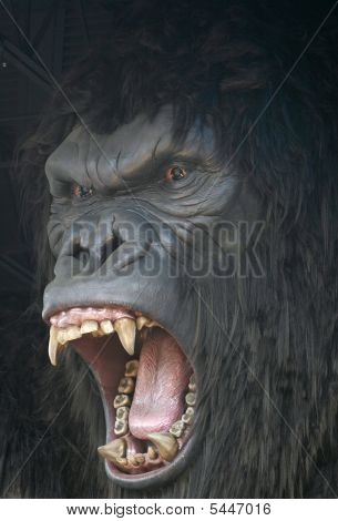 King Kong Gorilla Roaring In Fury