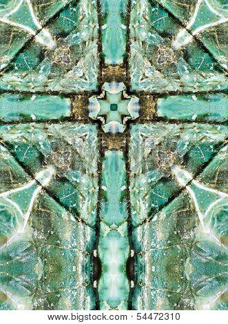 kaleidoscope cross, blue chert layers