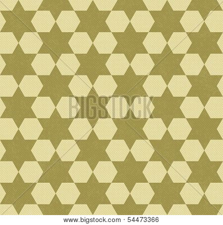 Yellow Hexagon Patterned Textured Fabric Background