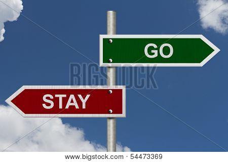 Stay Versus Go