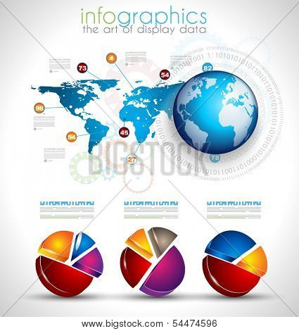 Collection of quality Infographics objects . A lot of different templates ready to display your data.