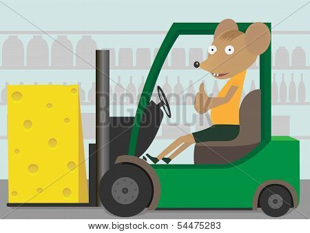 Loader with cheese