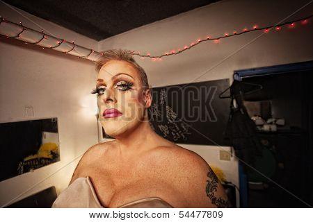Drag Queen In Dressing Room