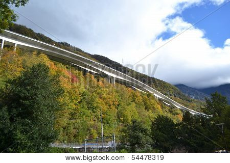 Autobahn In The Mountains