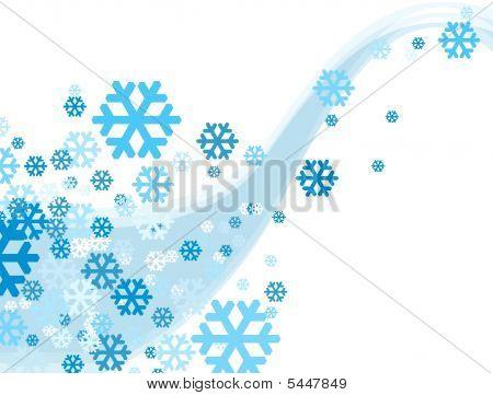 Christmas Celebration Snowflake Falling